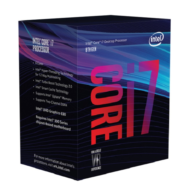 INTEL CORE I7-8700 PROCESSOR (12M CACHE, UP TO 4.60 GHZ) 3.2GHZ 12MB SMART CACHE BOX