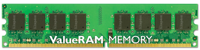 KINGSTON VALUERAM 1GB 667MHZ DDR2 NON-ECC CL5 DIMM MEMORY MODULE