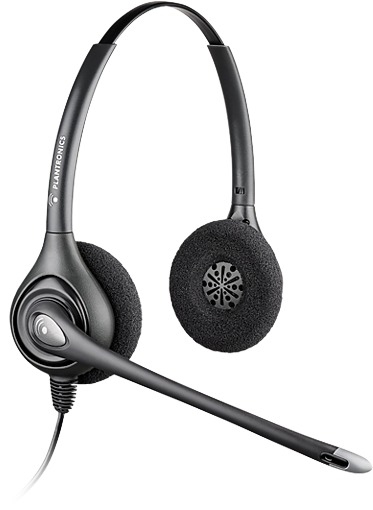 PLANTRONICS 36834-41 SUPRAPLUS WIDEBAND HW261N BINAURAL HEAD-BAND BLACK HEADSET