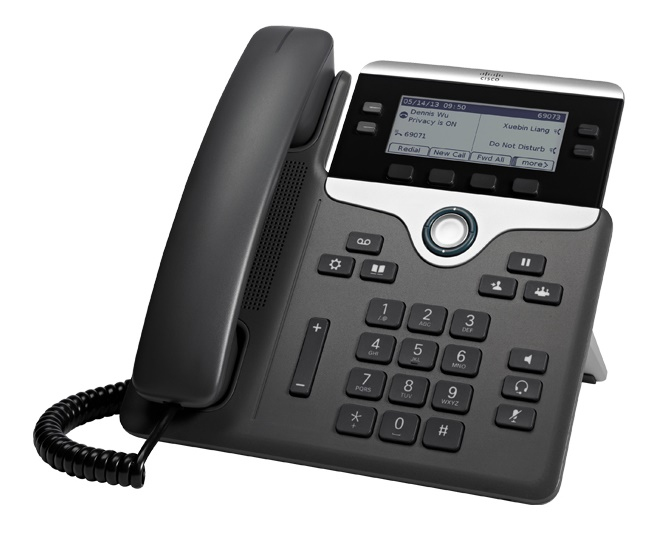 CISCO CP-7841-K9= 7841 WIRED HANDSET 4LINES LCD BLACK, SILVER IP PHONE