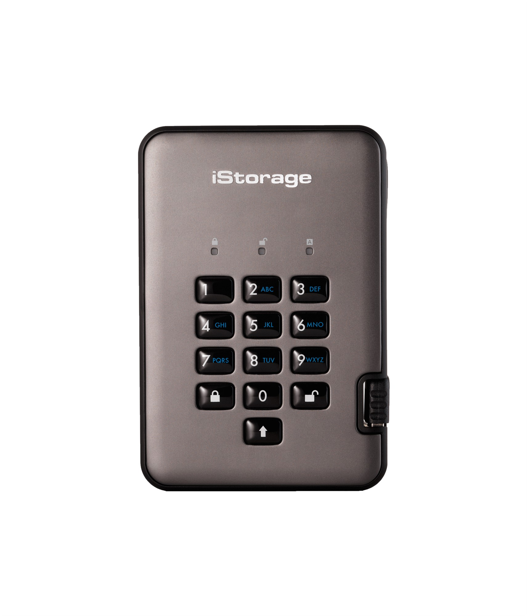 ISTORAGE IS-DAP2-256-1000-C-G DISKASHUR PRO2 1000GB BLACK, GRAPHITE EXTERNAL HARD DRIVE