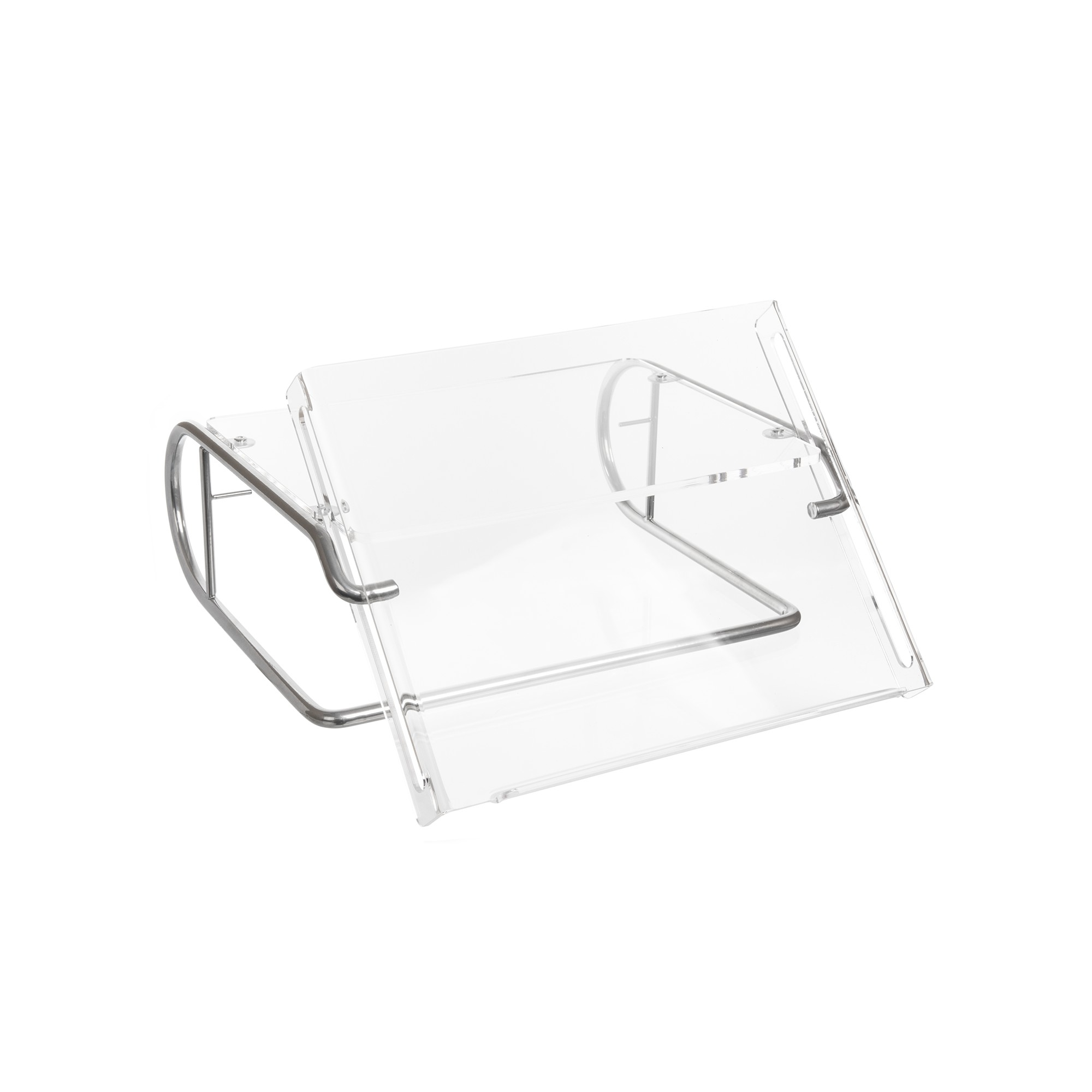 R-GO TOOLS RGOSC034 STEEL DOCUMENT MONITOR STAND, HOLDER, SILVER