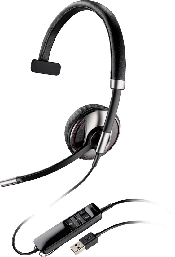 PLANTRONICS 87505-01 BLACKWIRE C710-M MONAURAL HEAD-BAND BLACK HEADSET