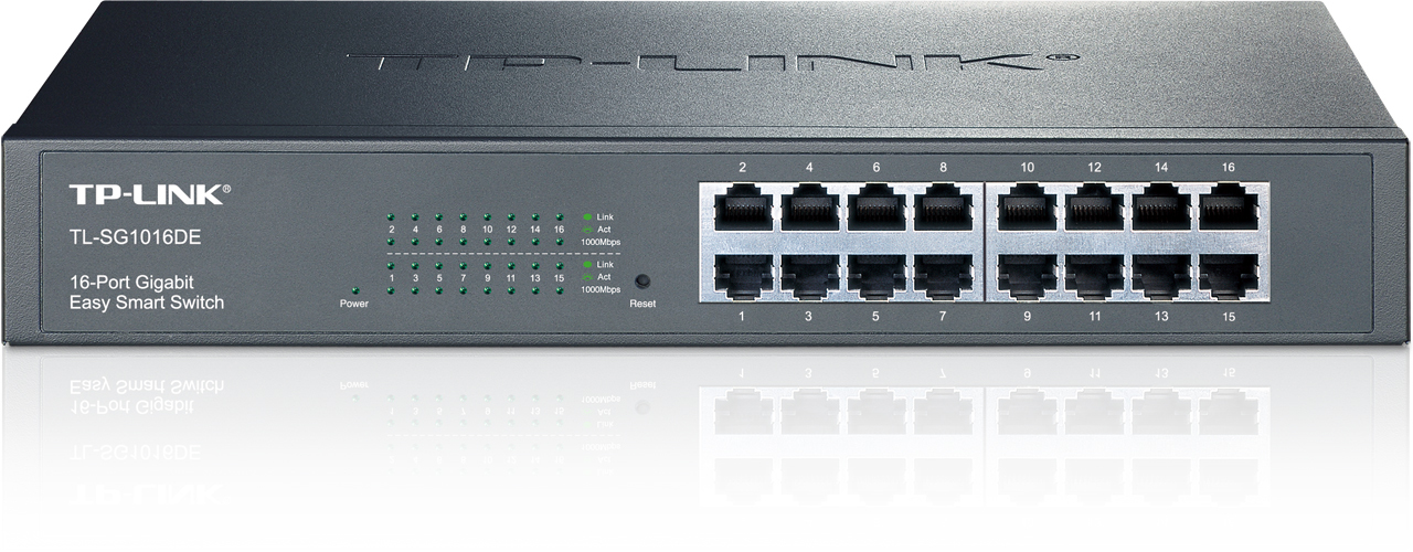TP-LINK TL-SG1016DE MANAGED NETWORK SWITCH L2 GIGABIT ETHERNET BLACK