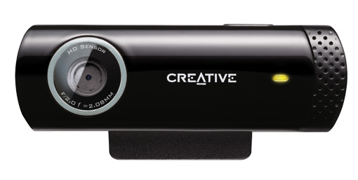 CREATIVE LABS LIVE! CAM CHAT HD 1280 X 720PIXELS USB 2.0 BLACK WEBCAM