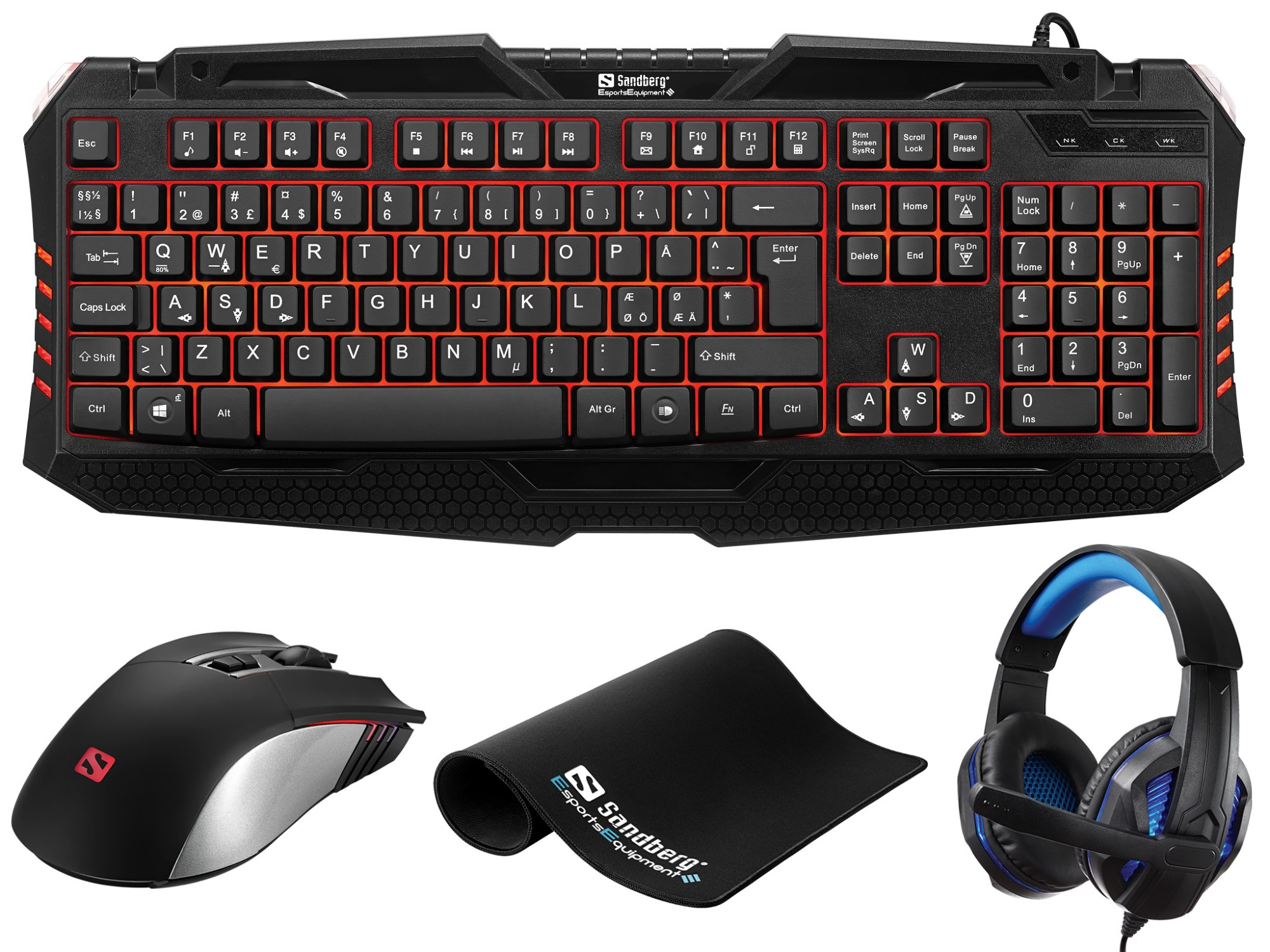 SANDBERG 640-10 GAMING STARTER KIT UK