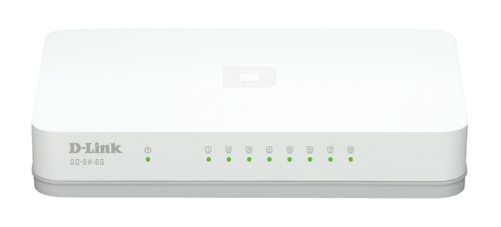 D-LINK GO-SW-8G/E UNMANAGED NETWORK SWITCH GIGABIT ETHERNET (10/100/1000) WHITE