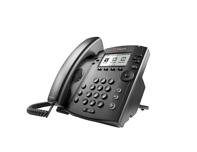 POLYCOM VVX 301 WIRED HANDSET 6LINES LCD BLACK IP PHONE