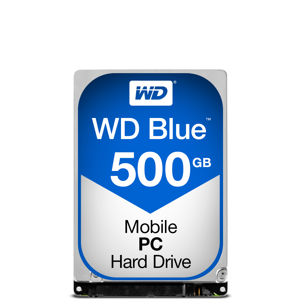WESTERN DIGITAL BLUE PC MOBILE HDD 500GB SERIAL ATA III INTERNAL HARD DRIVE