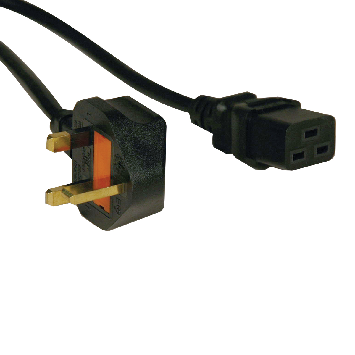 TRIPP LITE STANDARD UK POWER CORD LEAD CABLE, 13A (IEC-320-C19 TO BS-1363 PLUG), 2.43 M