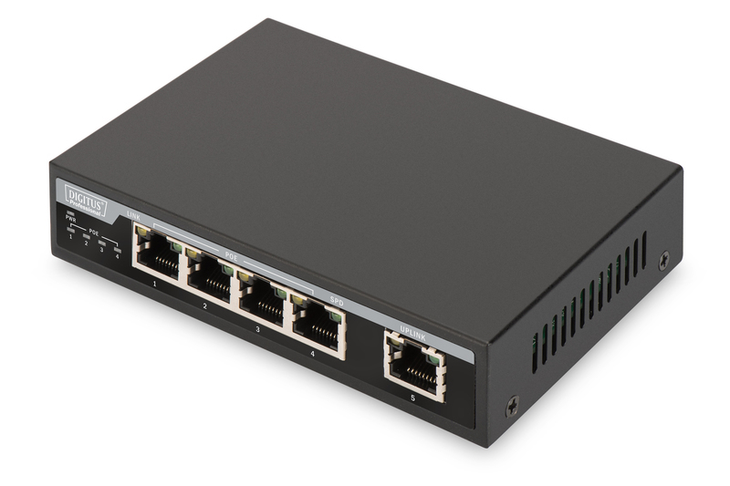 DIGITUS DN-95320 FAST ETHERNET (10 - 100) POWER OVER (POE) BLACK NETWORK SWITCH