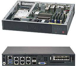 SUPERMICRO SUPERSERVER E300-9A INTEL SOC BGA 1310 1U BLACK