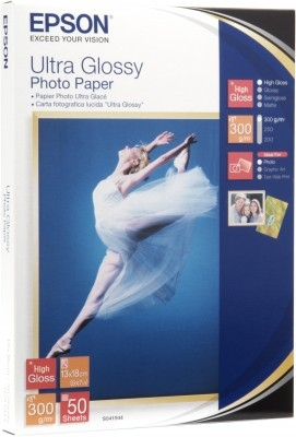 EPSON ULTRA GLOSSY PHOTO PAPER, 130 X 180 MM, 300G/M, 50 SHEETS