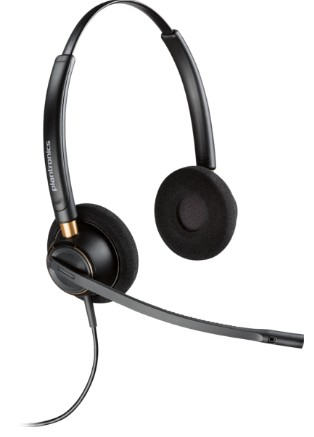 PLANTRONICS 203192-01 HW520D BINAURAL HEAD-BAND BLACK HEADSET
