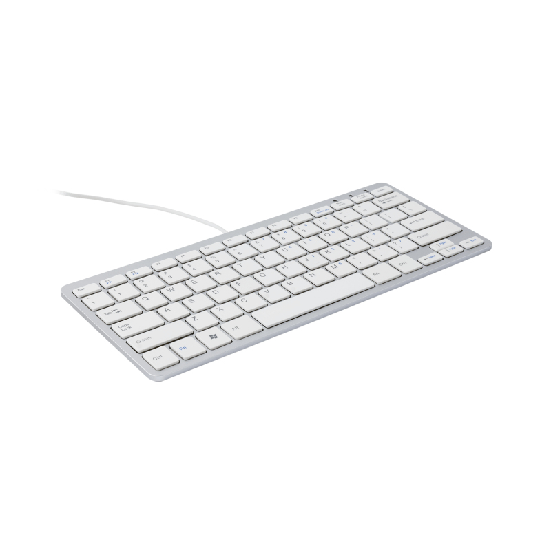 R-GO TOOLS RGOECBEW COMPACT KEYBOARD, AZERTY (BE), WHITE, WIRED