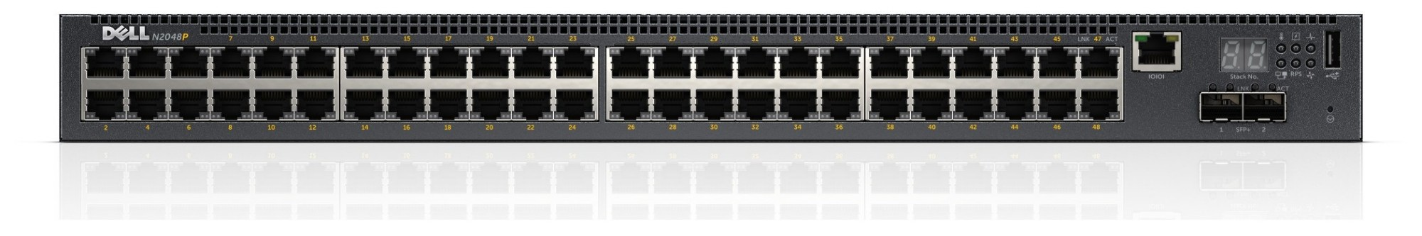 DELL POWERCONNECT N2048P MANAGED NETWORK SWITCH L2+ GIGABIT ETHERNET POWER OVER (POE) 1U BLACK
