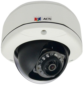 ACTI D72A IP SECURITY CAMERA OUTDOOR DOME WHITE 1920 X 1080PIXELS