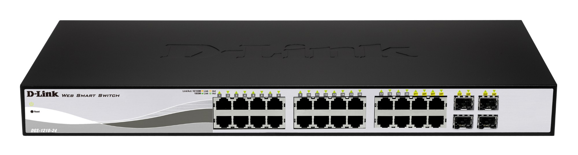 D-LINK DGS-1210-24P L2 GIGABIT ETHERNET BLACK NETWORK SWITCH