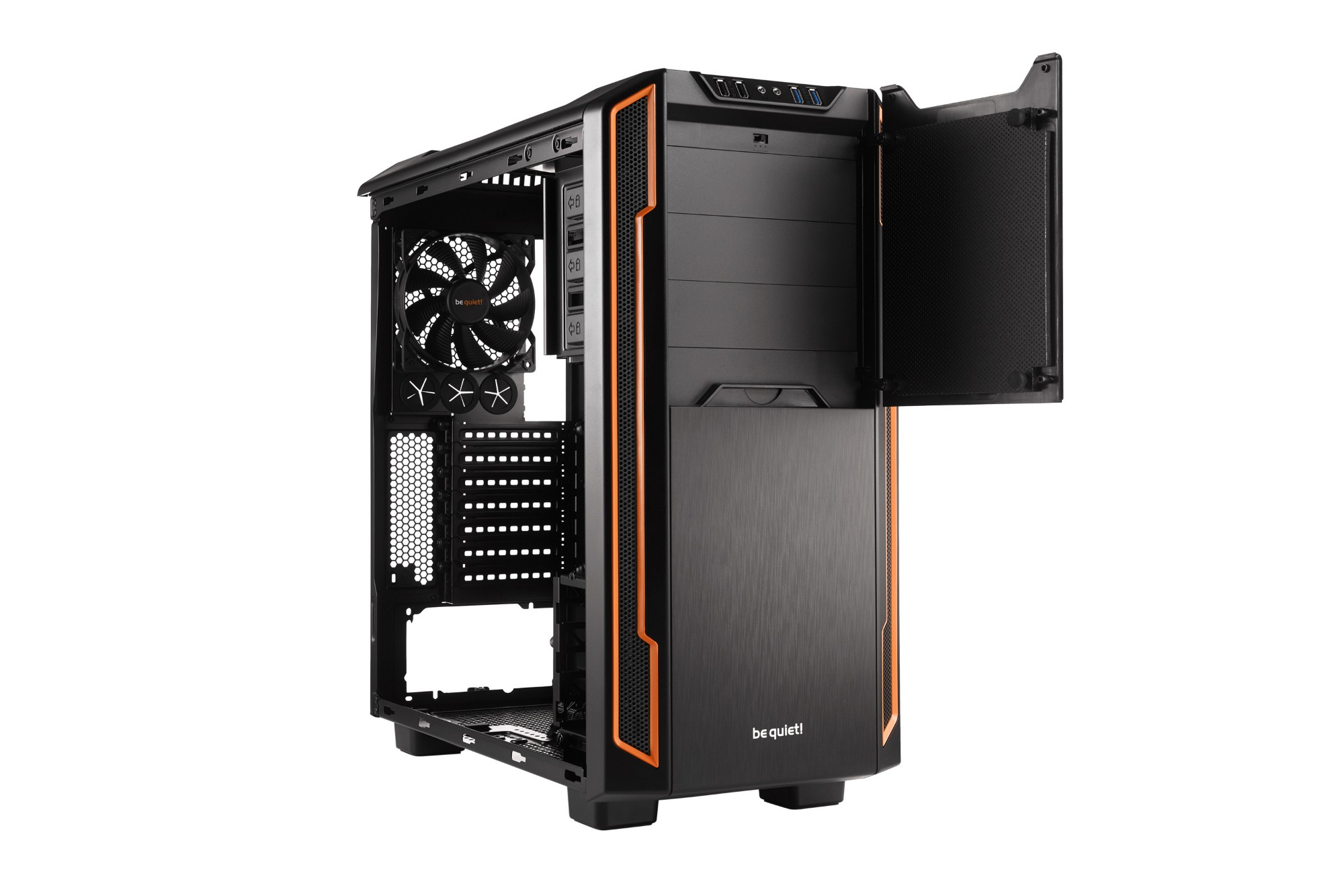 BE QUIET! BG005 SILENT BASE 600 DESKTOP ORANGE,BLACK COMPUTER CASE