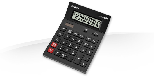 CANON AS-2200 DESKTOP DISPLAY BLACK CALCULATOR
