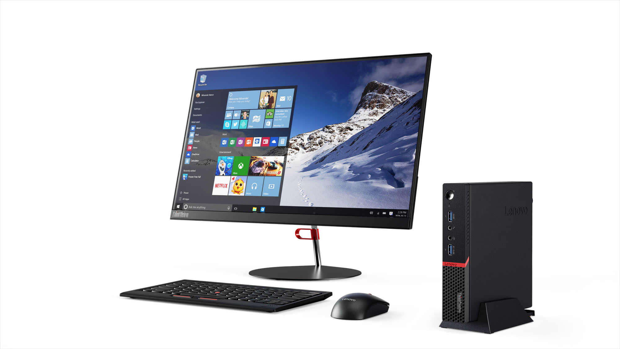 LENOVO 10G9001ASP THINKCENTRE M600 1.6GHZ J3710 MINI PC BLACK