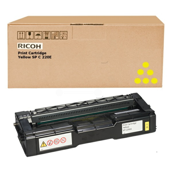 RICOH 407546 TONER YELLOW, 1.6K PAGES