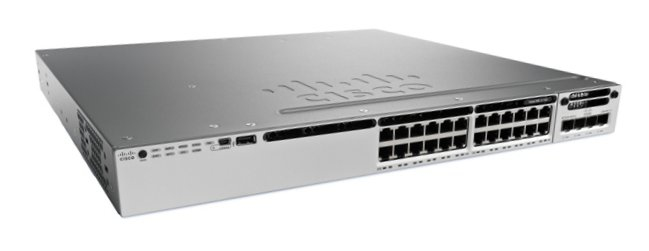CISCO WS-C3850-24T-E CATALYST MANAGED BLACK, GREY NETWORK SWITCH
