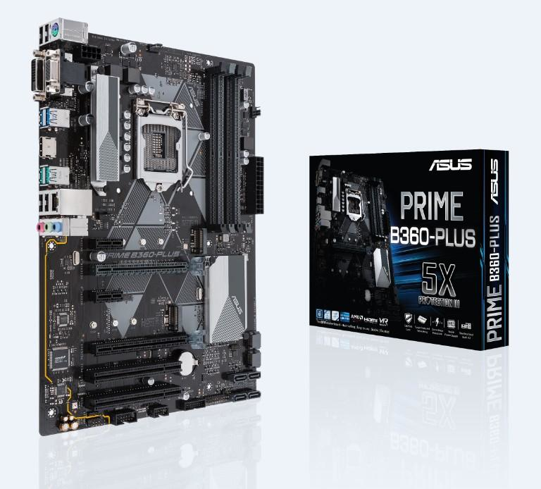 ASUS PRIME B360-PLUS INTEL B360 LGA 1151 (SOCKET H4) ATX