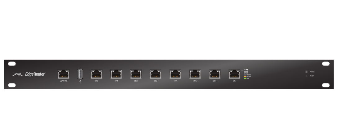 UBIQUITI NETWORKS ER-8 EDGEROUTER ETHERNET LAN BLACK WIRED ROUTER