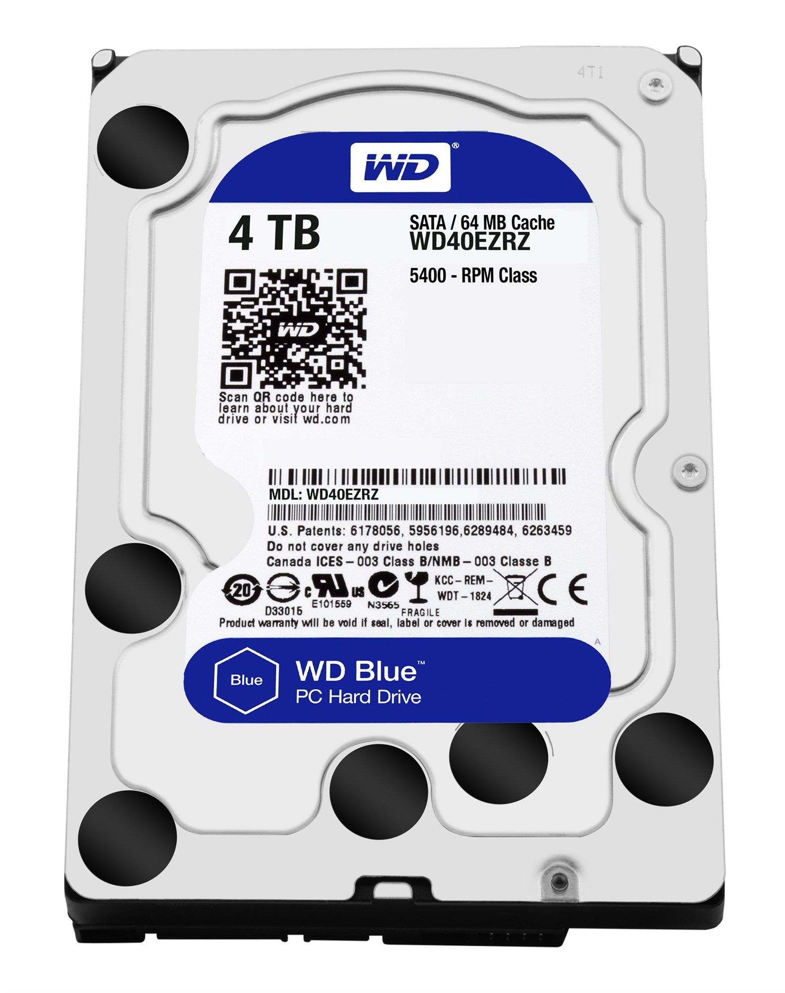 WESTERN DIGITAL BLUE HDD 4000GB SERIAL ATA III INTERNAL HARD DRIVE