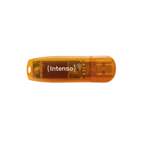INTENSO 3502490 64GB RAINBOW USB2.0 USB 2.0 TYPE-A CONNECTOR ORANGE FLASH DRIVE