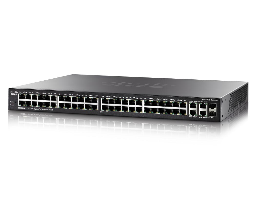 CISCO SG300-52P-K9-EU SG300-52P MANAGED NETWORK SWITCH L3 POWER OVER ETHERNET (POE) BLACK