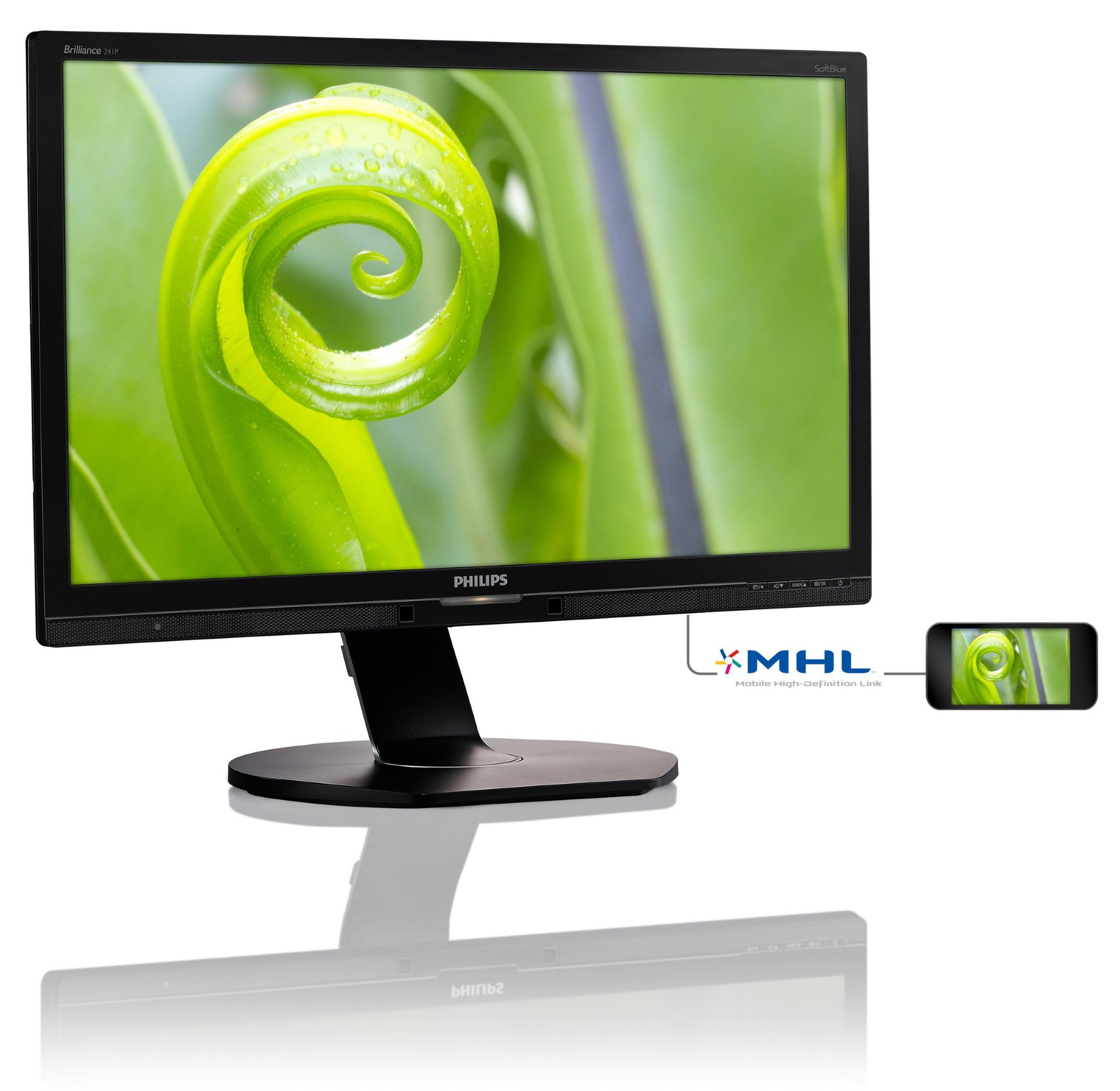 PHILIPS BRILLIANCE LCD MONITOR WITH SOFTBLUE TECHNOLOGY 241P6EPJEB/00