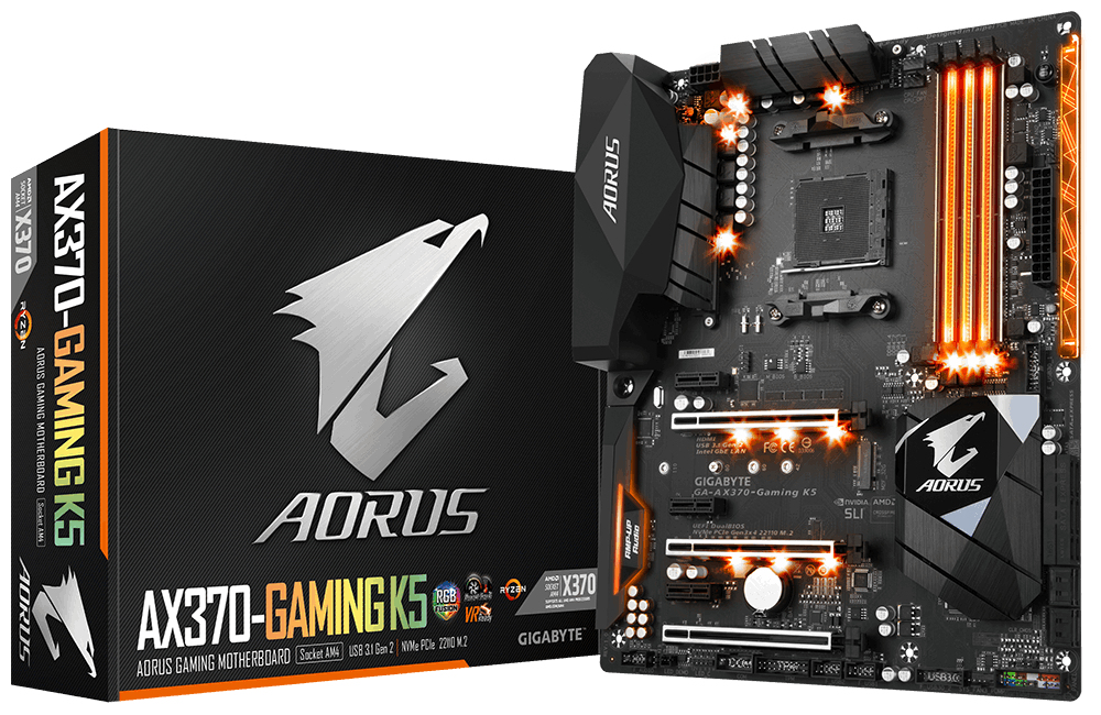 GIGABYTE AX370-GAMING K5 AMD X370 SOCKET AM4 ATX