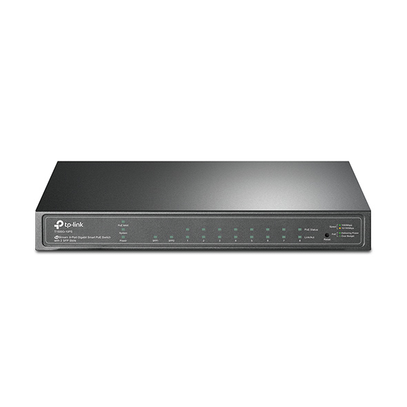 TP-LINK T1500G-10PS MANAGED L2/L4 GIGABIT ETHERNET POWER OVER (POE) BLACK