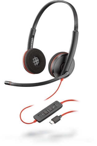 PLANTRONICS 209749-101 BLACKWIRE 3220, USB C, A2DP, 20HZ - 20KHZ