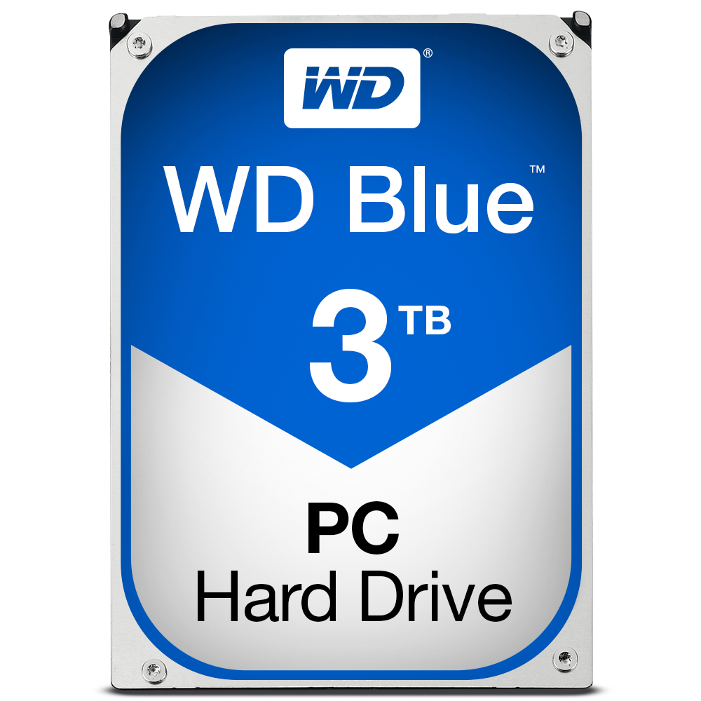 WESTERN DIGITAL BLUE HDD 3000GB SERIAL ATA III INTERNAL HARD DRIVE