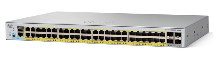 CISCO WS-C2960L-48PS-LL 48 PORT GIGABIT FULL POE CAPABLE ENTERPRISE LEVEL LAYER 2 MANAGED SWITCH