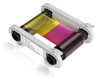 EVOLIS R5H004NAA HALF PANEL YMCKO COLOR RIBBON, 400 PRINTS