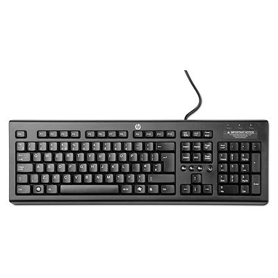 HP CLASSIC WIRED KEYBOARD BLACK