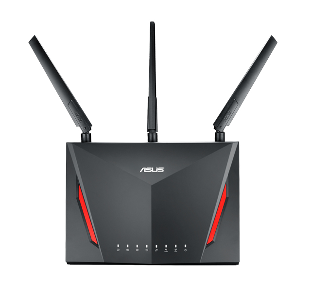 ASUS RT-AC86U DUAL-BAND (2.4 GHZ / 5 GHZ) GIGABIT ETHERNET BLACK WIRELESS ROUTER