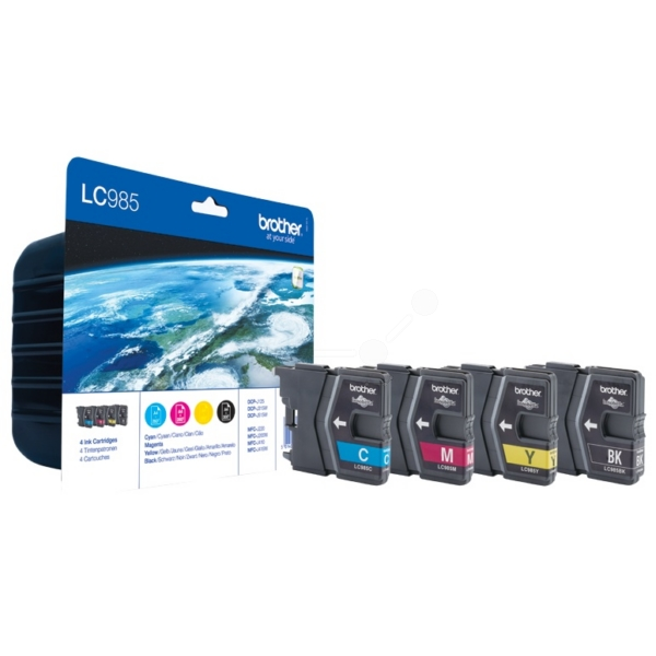 BROTHER LC-985VALBP INK CARTRIDGE MULTI PACK, 300PG + 3X260PG, PACK QTY 4