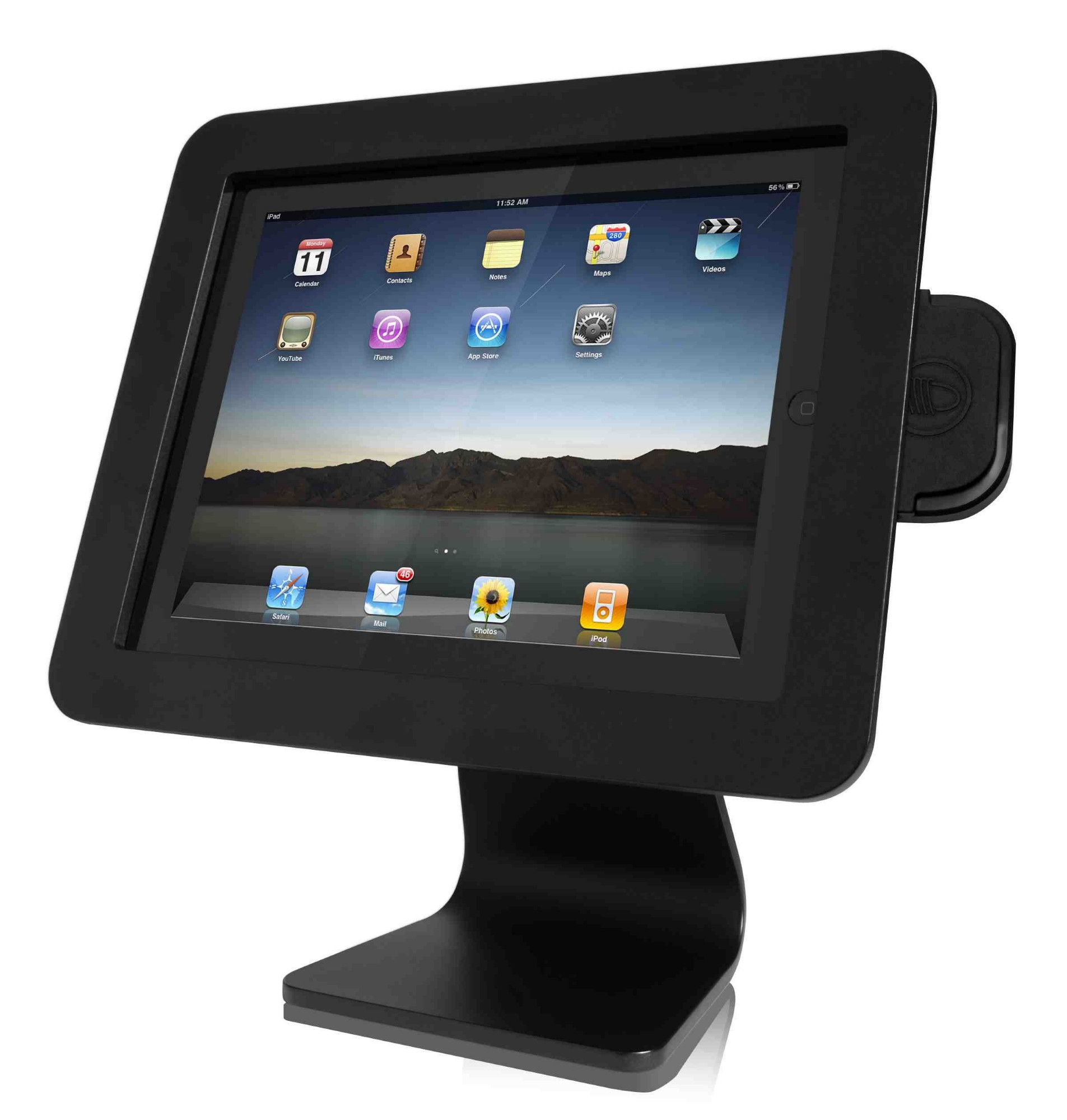 COMPULOCKS AIO-B IPAD ENCLOSURE KIOSK BLACK TABLET SECURITY