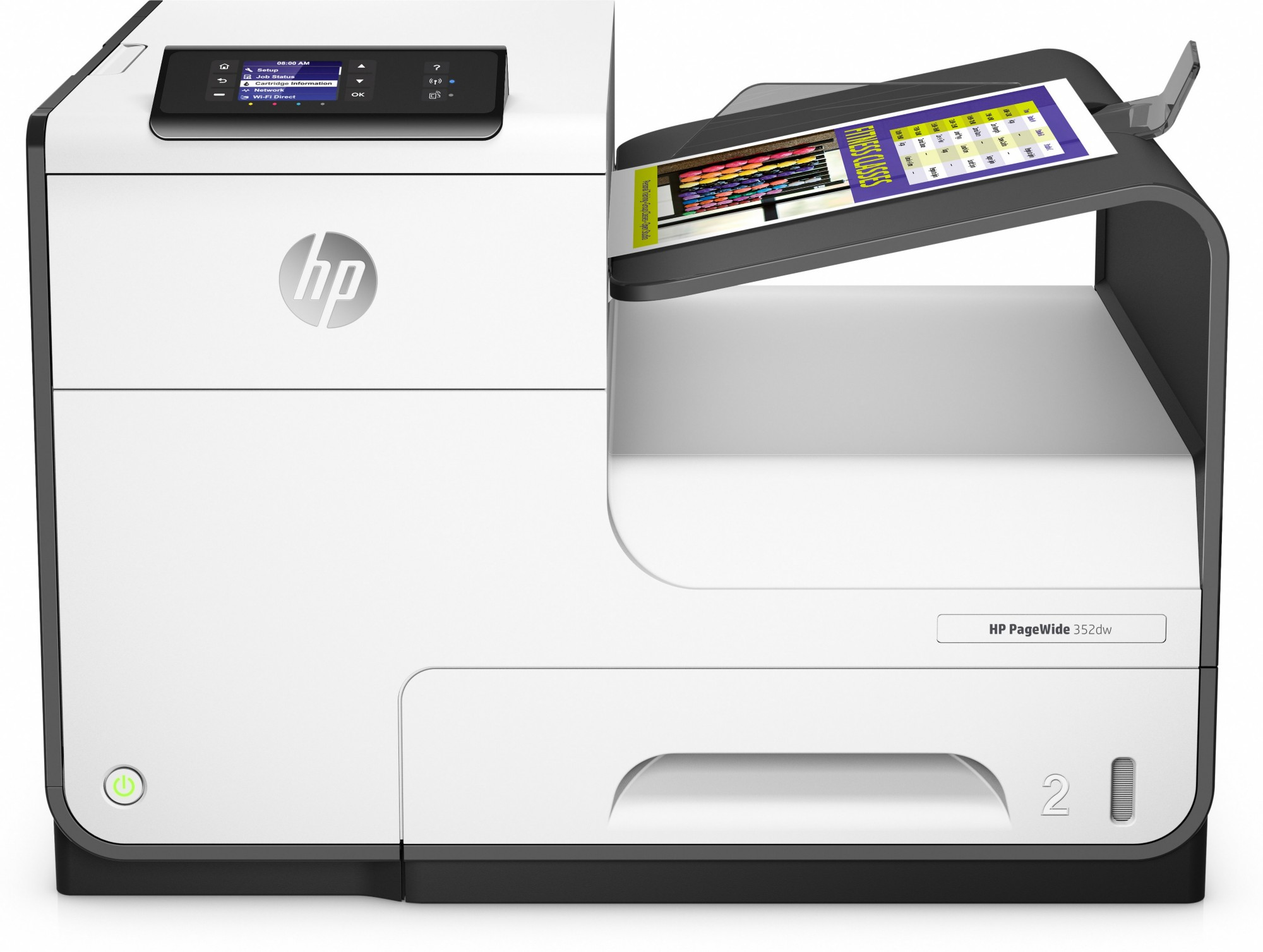 HP J6U57B PAGEWIDE 352DW COLOUR 2400 X 1200DPI A4 WI-FI INKJET PRINTER