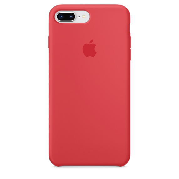 APPLE IPHONE 8 PLUS / 7 SILICONE CASE - RED RASPBERRY