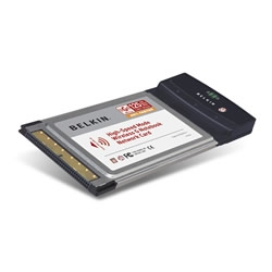 BELKIN HIGH-SPEED MODE WIRELESS G NOTEBOOK NETWORK CARD