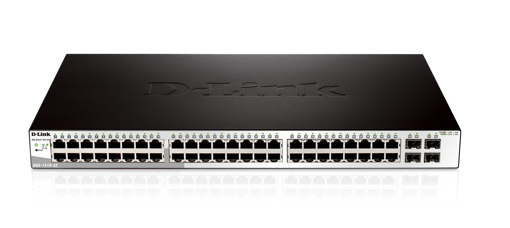 D-LINK DGS-1210-52 MANAGED NETWORK SWITCH L2 1U BLACK