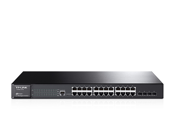 TP-LINK T2600G-28TS MANAGED L2 GIGABIT ETHERNET BLACK NETWORK SWITCH