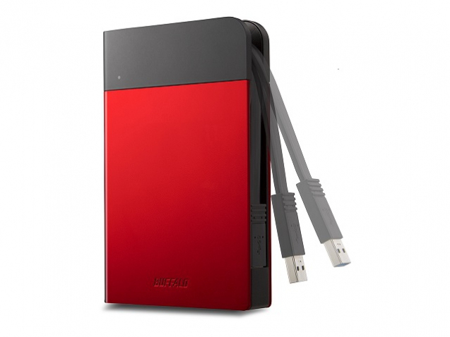 BUFFALO HD-PZF1.0U3R-EU MINISTATION EXTREME USB 3.0 1TB 1000GB BLACK, RED EXTERNAL HARD DRIVE