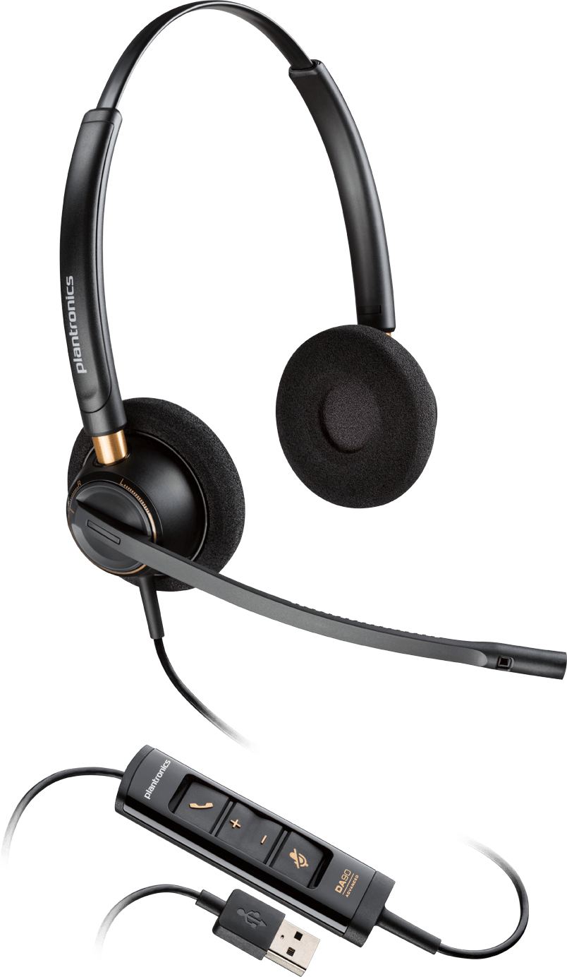 PLANTRONICS 203444-01 ENCOREPRO HW525 BINAURAL HEAD-BAND BLACK HEADSET